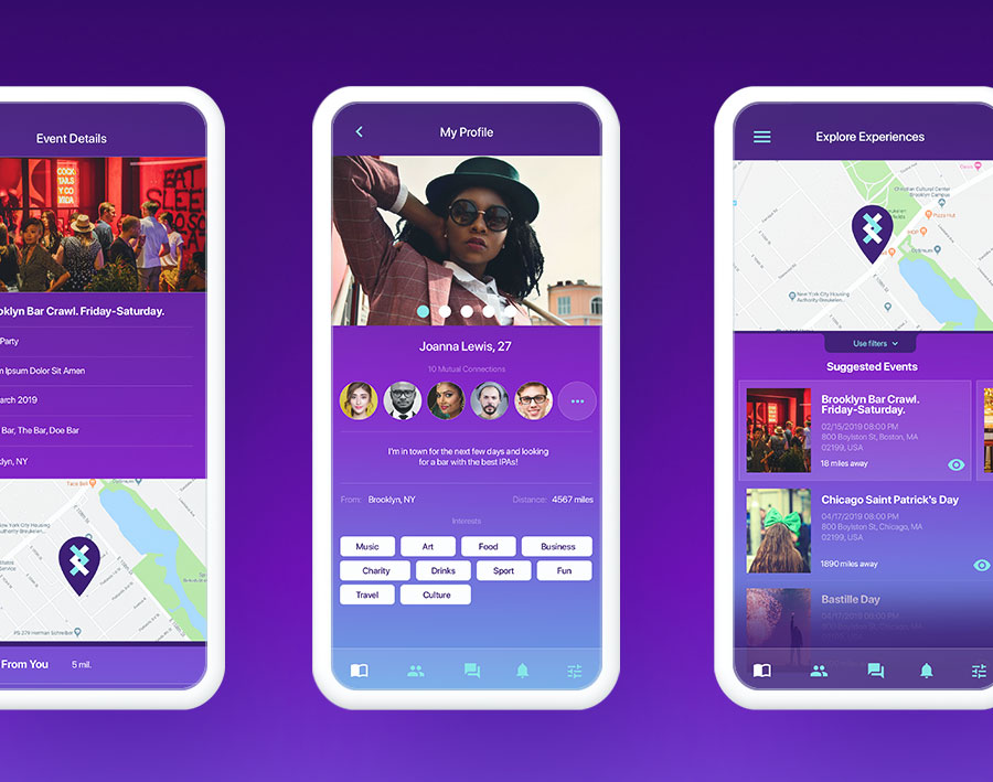 EnjoinIt app design mockup