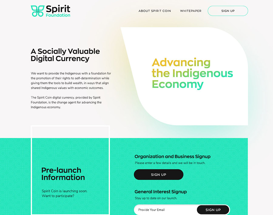 Spirit Coin Page Header