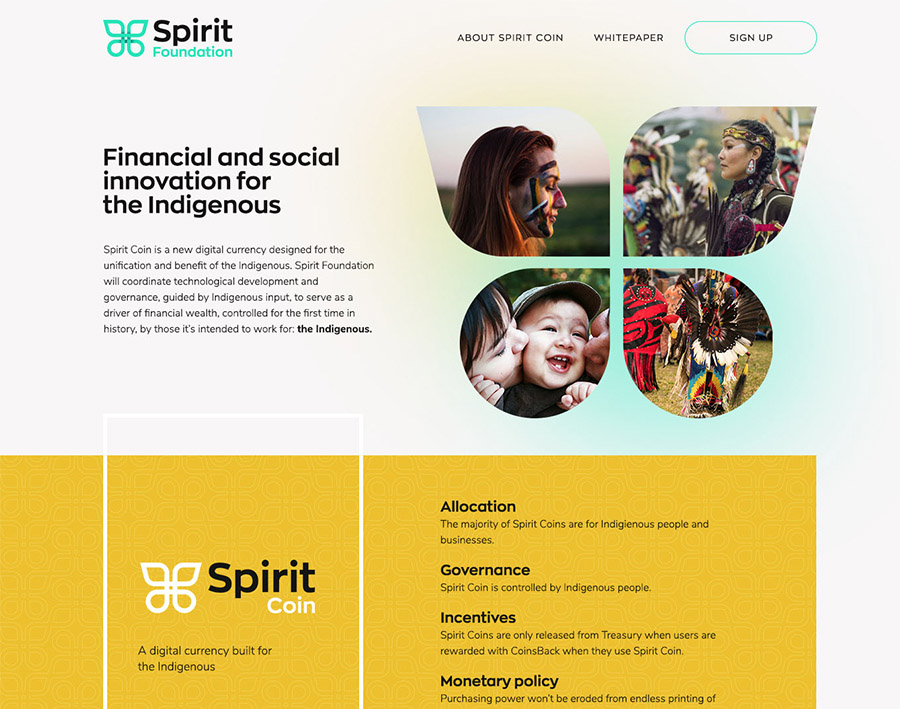 Spirit Foundation Page Header