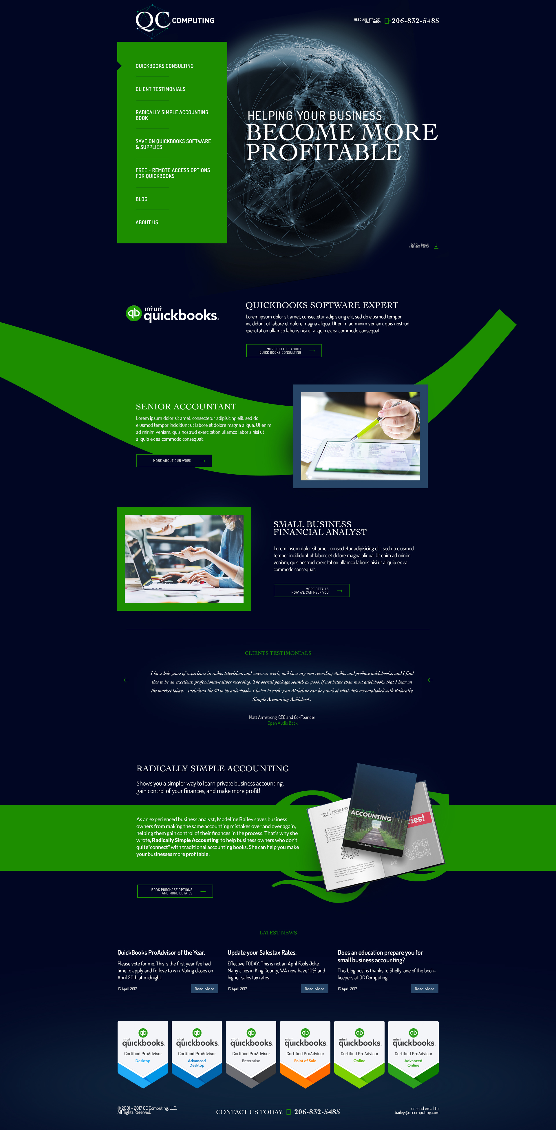 accounting professional web design
