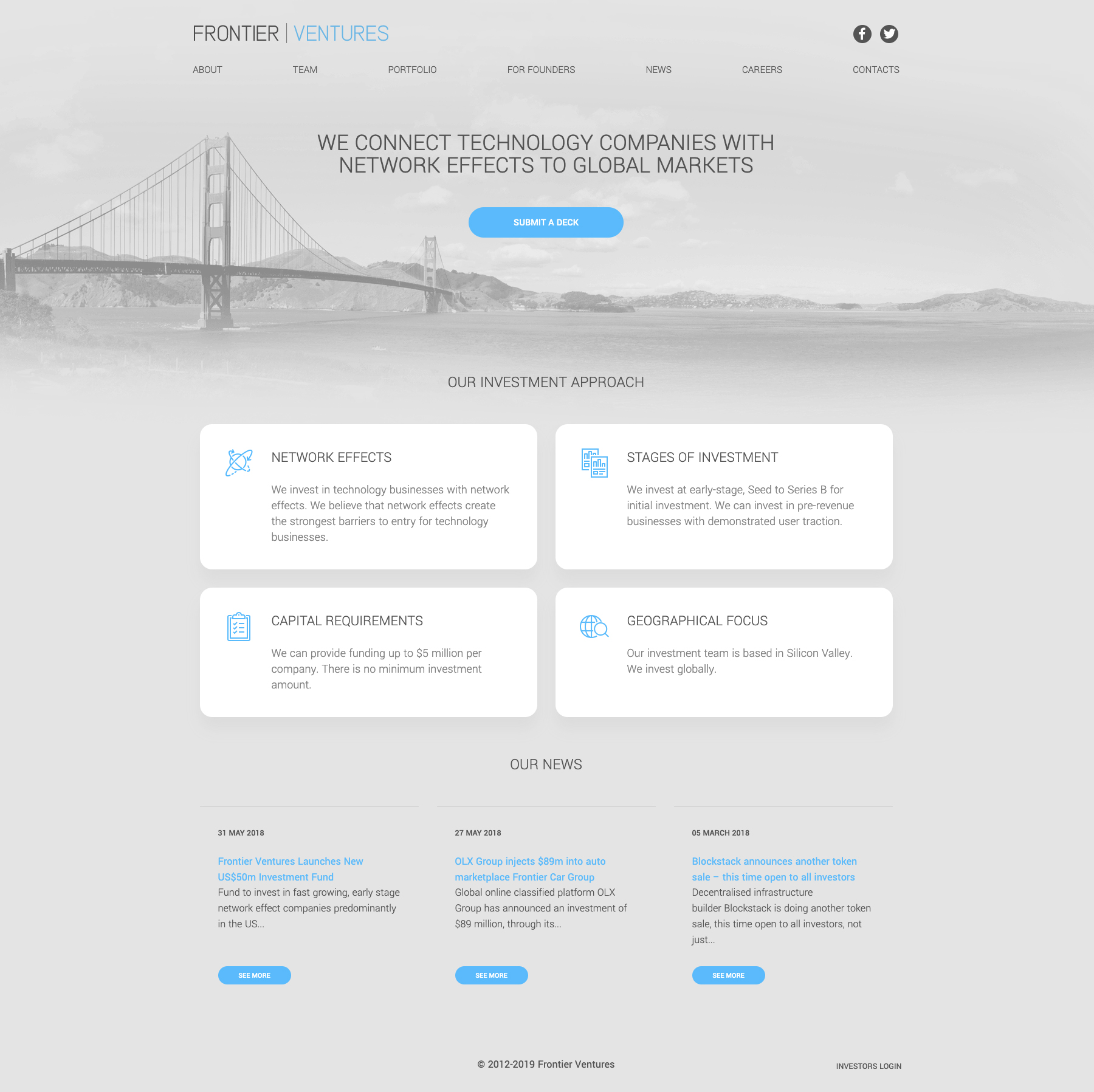 Venture Capital Fund Website