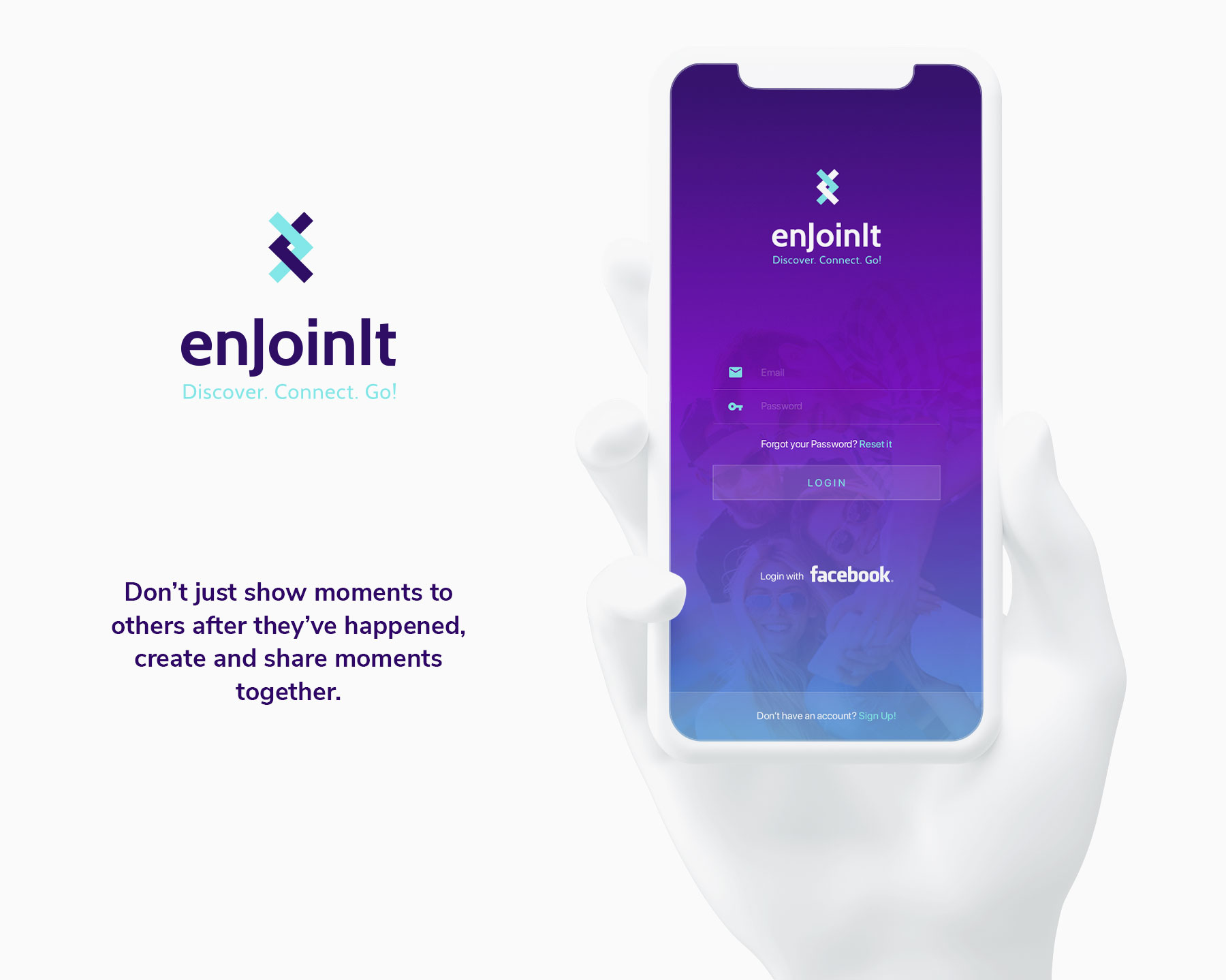enjoingit ios and android app ui ux-promo
