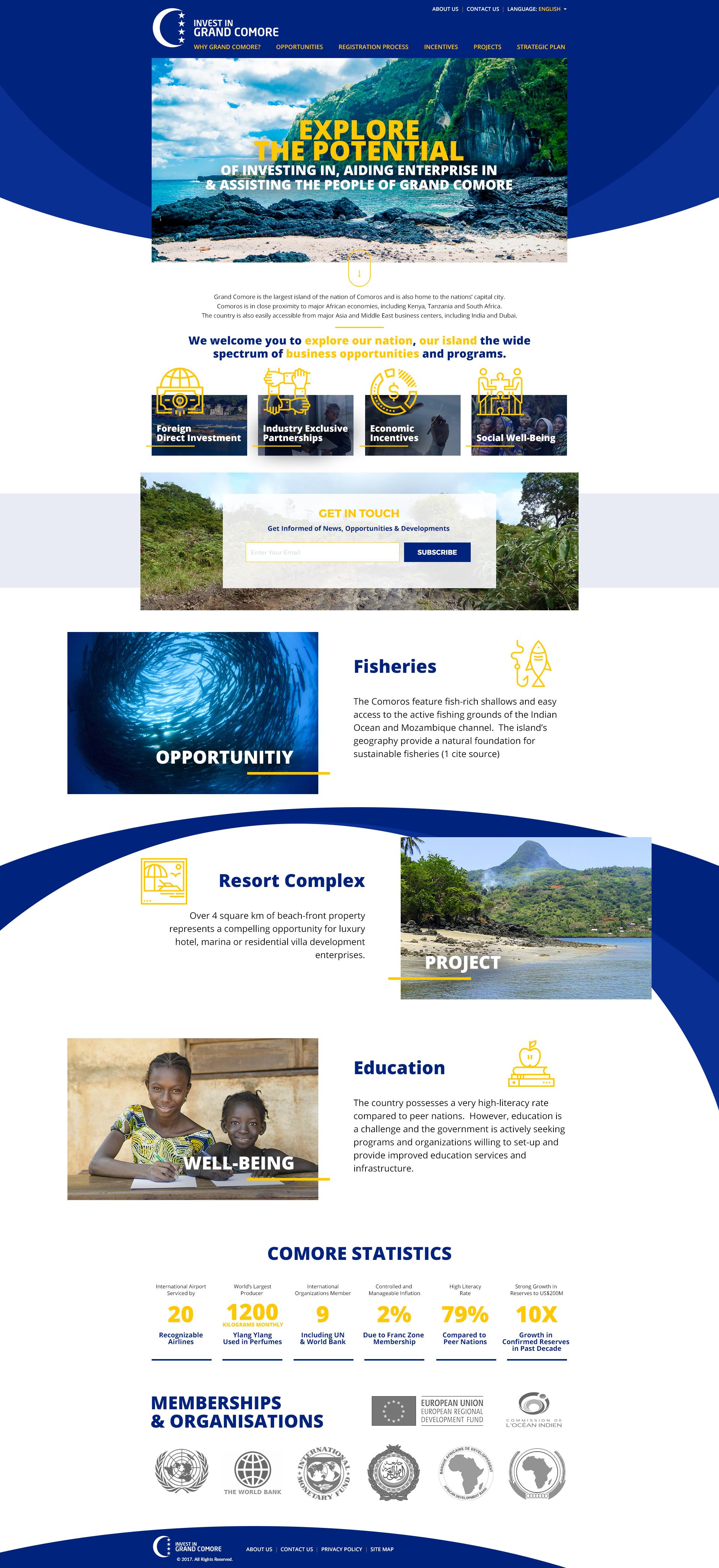 investment travel website design