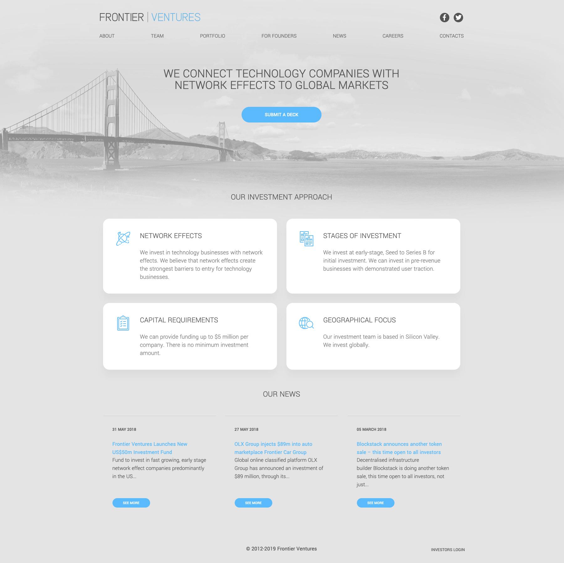 Venture Capital Fund Website